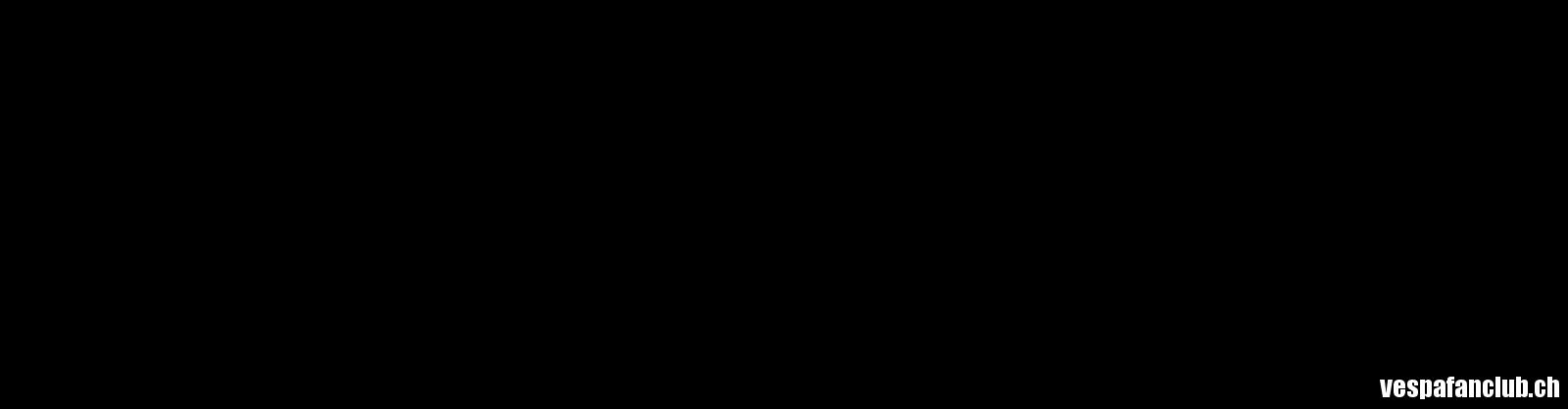 Vespa Fan Club Logo o.Adr. schwarz