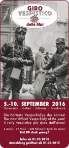 Giro Vespistico delle Alpi 2016 @ Giro Vespistico | Zell am See | Salzburg | Österreich