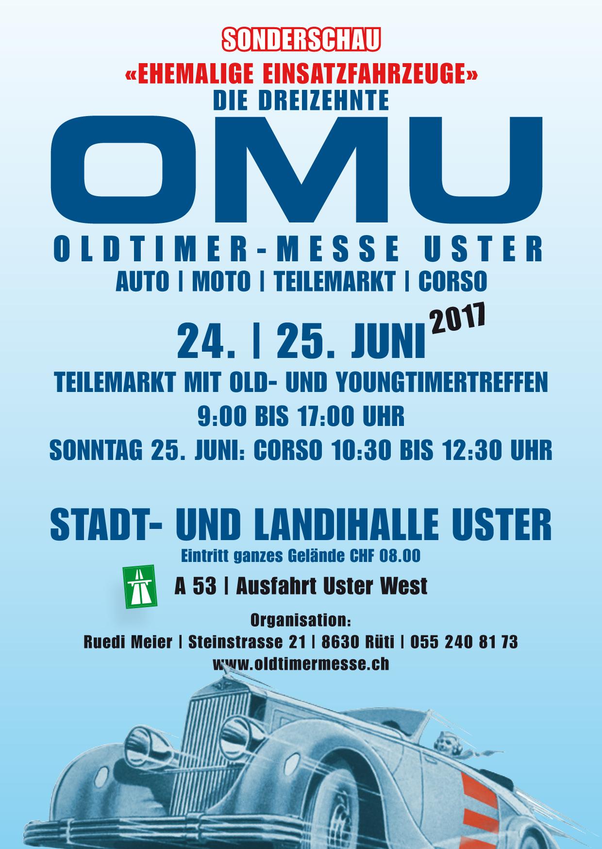 OMU - Oldtimer Messe Uster @ Stadt- und Landihalle Uster