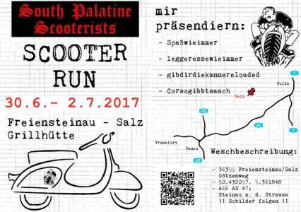Scooter Run der South Palatine SC @ Steinbruch Salz, Grillhütte | Freiensteinau | Hessen | Deutschland