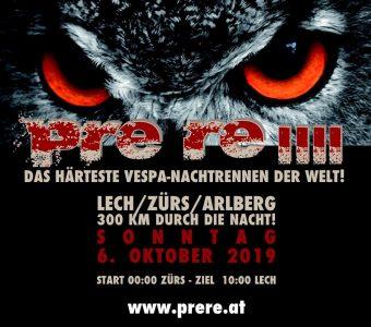 PRE RE IIII - Das härteste Vespa-Nachtrennen der Welt! @ Lech / Zürs / Arlberg | Lech | Vorarlberg | Österreich